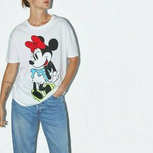 ZARA DISNEY MINNIE MOUSE PRINT T-SHIRT